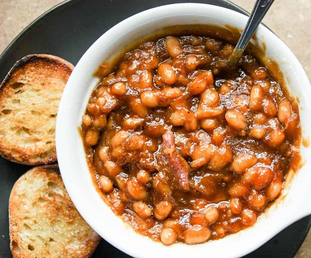 Slow Cooker Baked Beans- Boston Baked Beans   The Food Blog